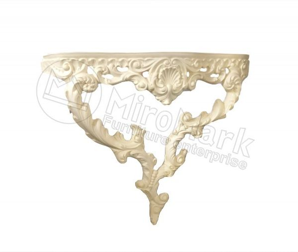 Decorative console Rosana, unpainted