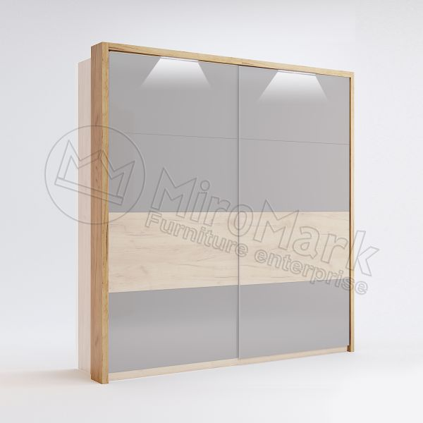 Sl.-dr 2,0m wardrobe Cornice with Backlight