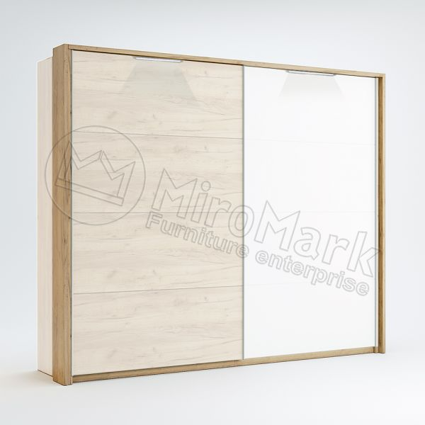 Sl.-dr 2,5m wardrobe Cornice with Backlight